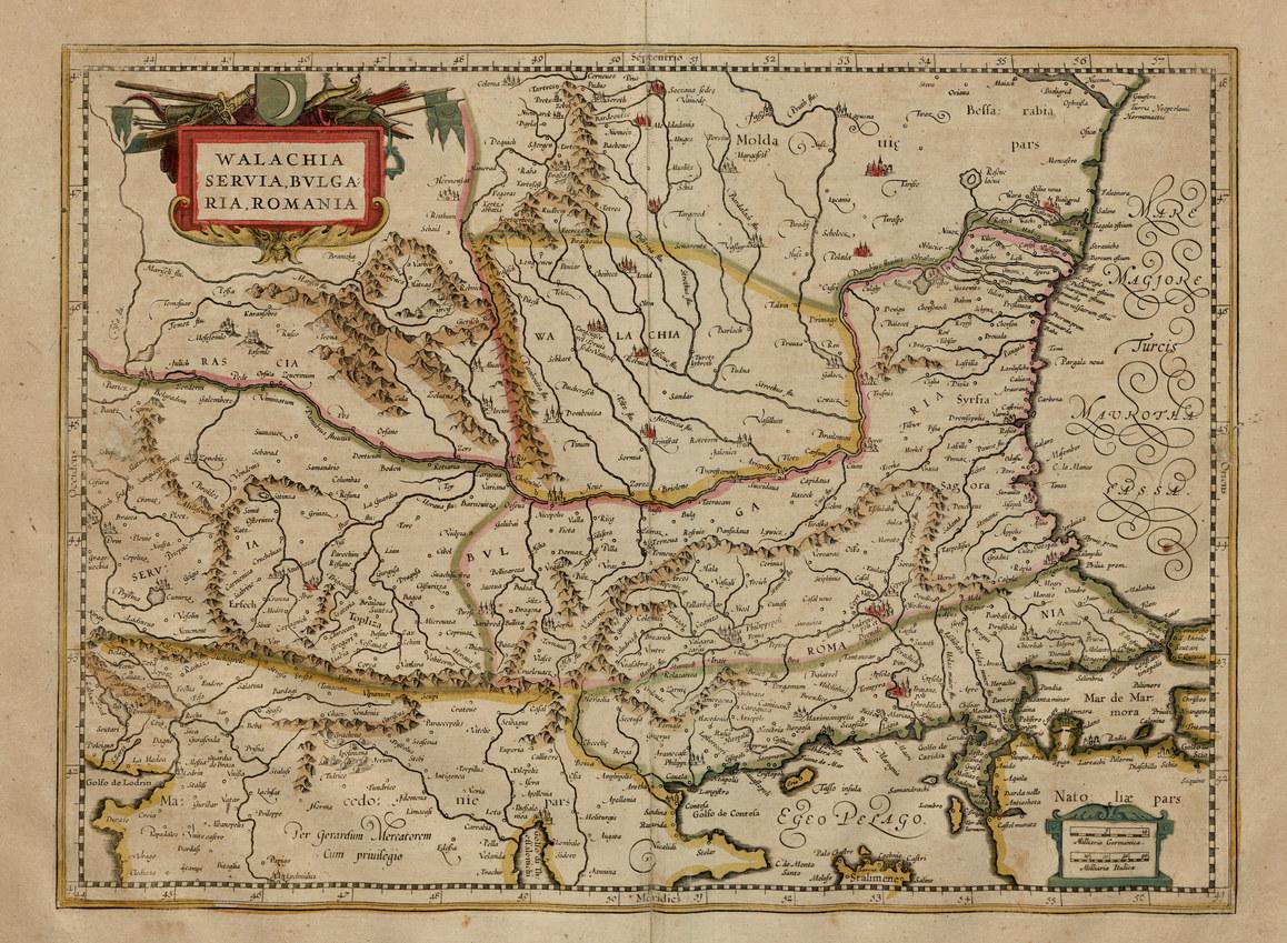 Карты Балкан, 1589 г.