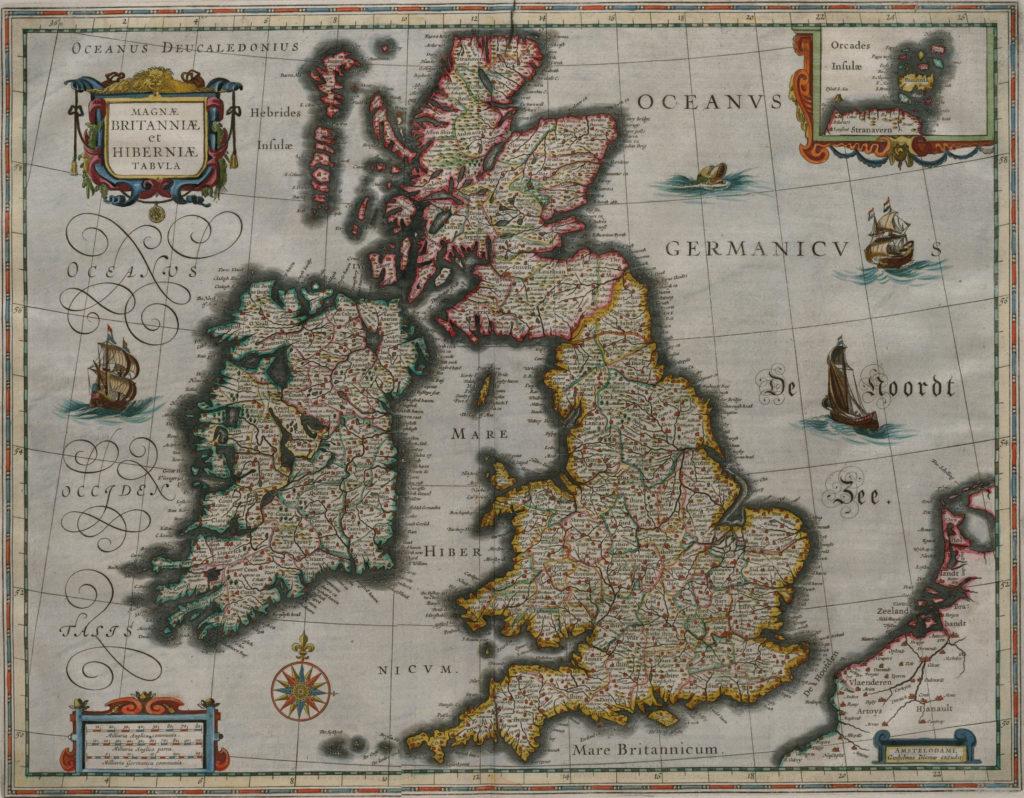 Карта Британии, 1648 г.