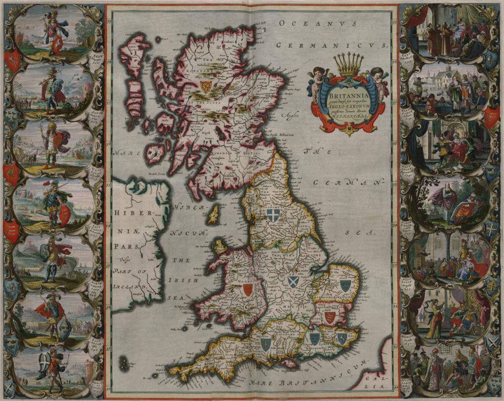 Карты Британии, 1648 г.