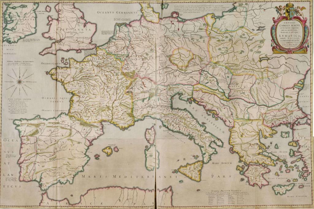 Карта Европы, 1658 г.