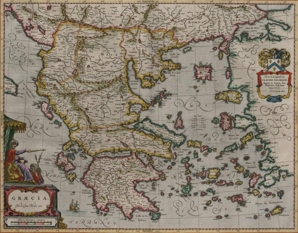 Карта Греции, 1658 г.