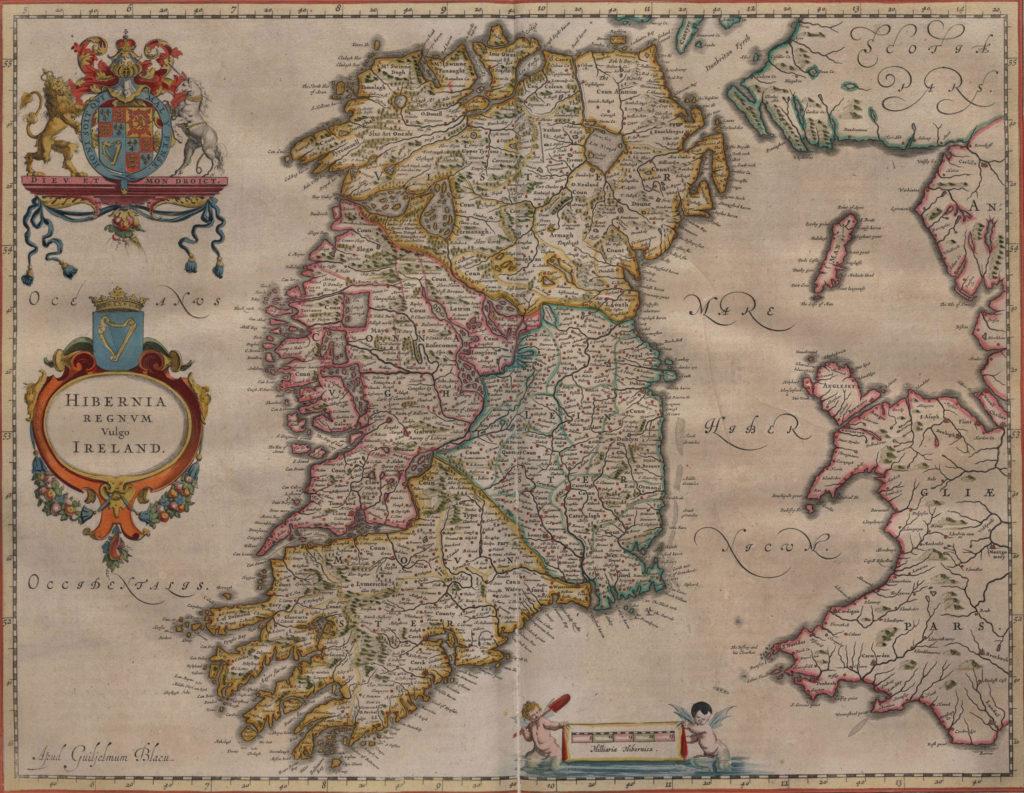 Карта Ирландии, 1648 г.