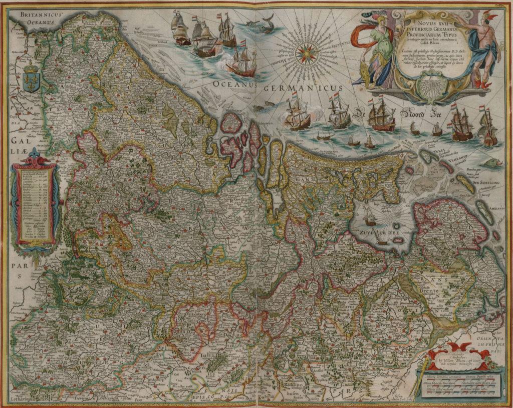 Карта Нидерландов, 1657 г.