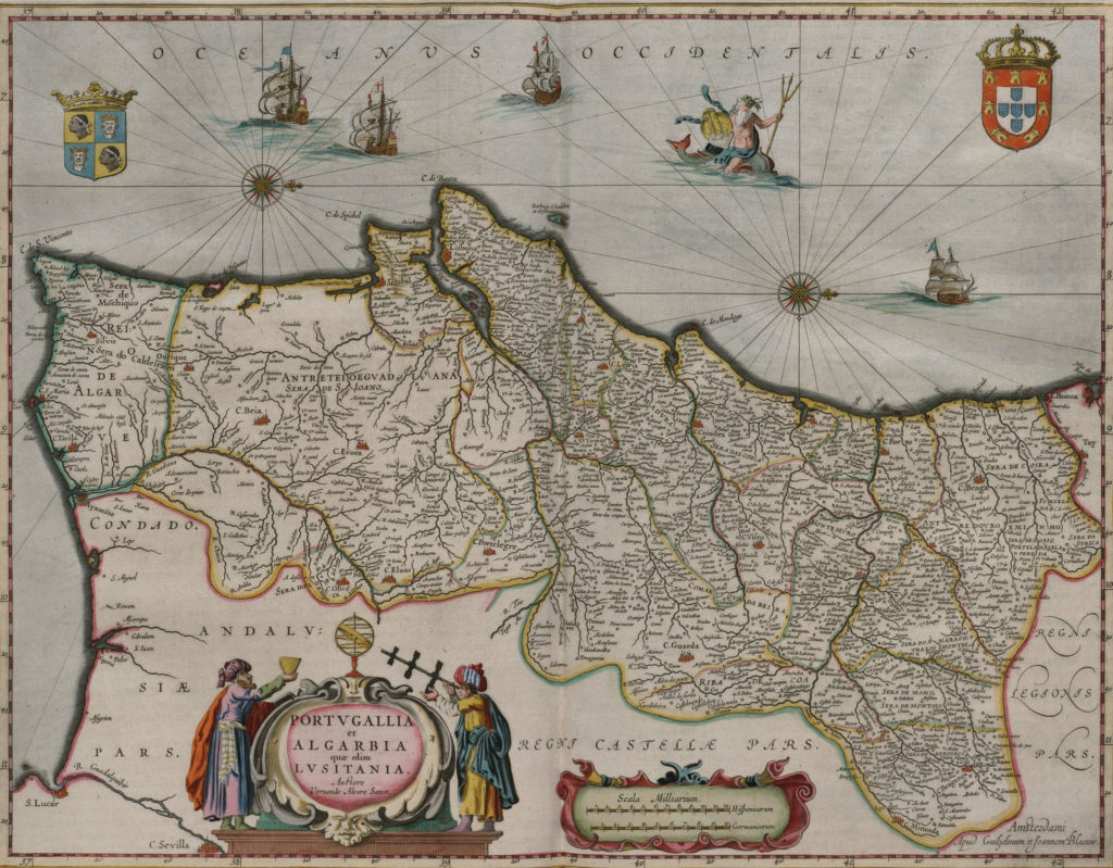 Карта Португалии, 1658 г.