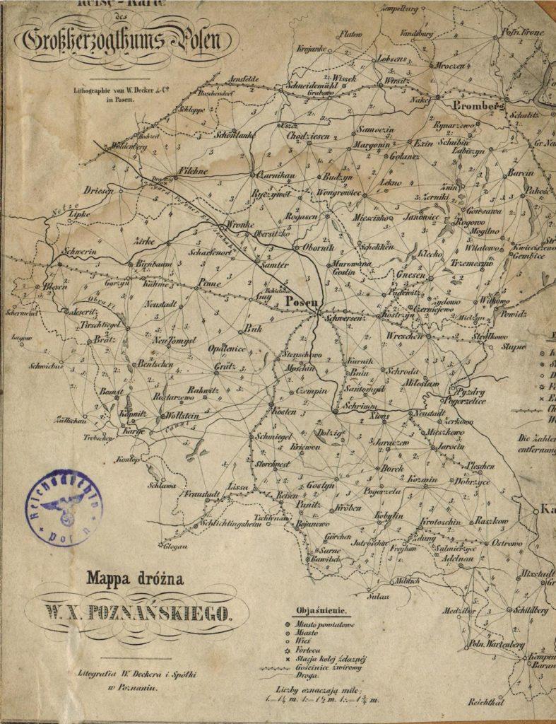 Карта Великого княжества Познанского, 1820 г.