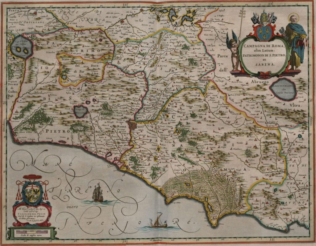Карта Рима, 1658 г.