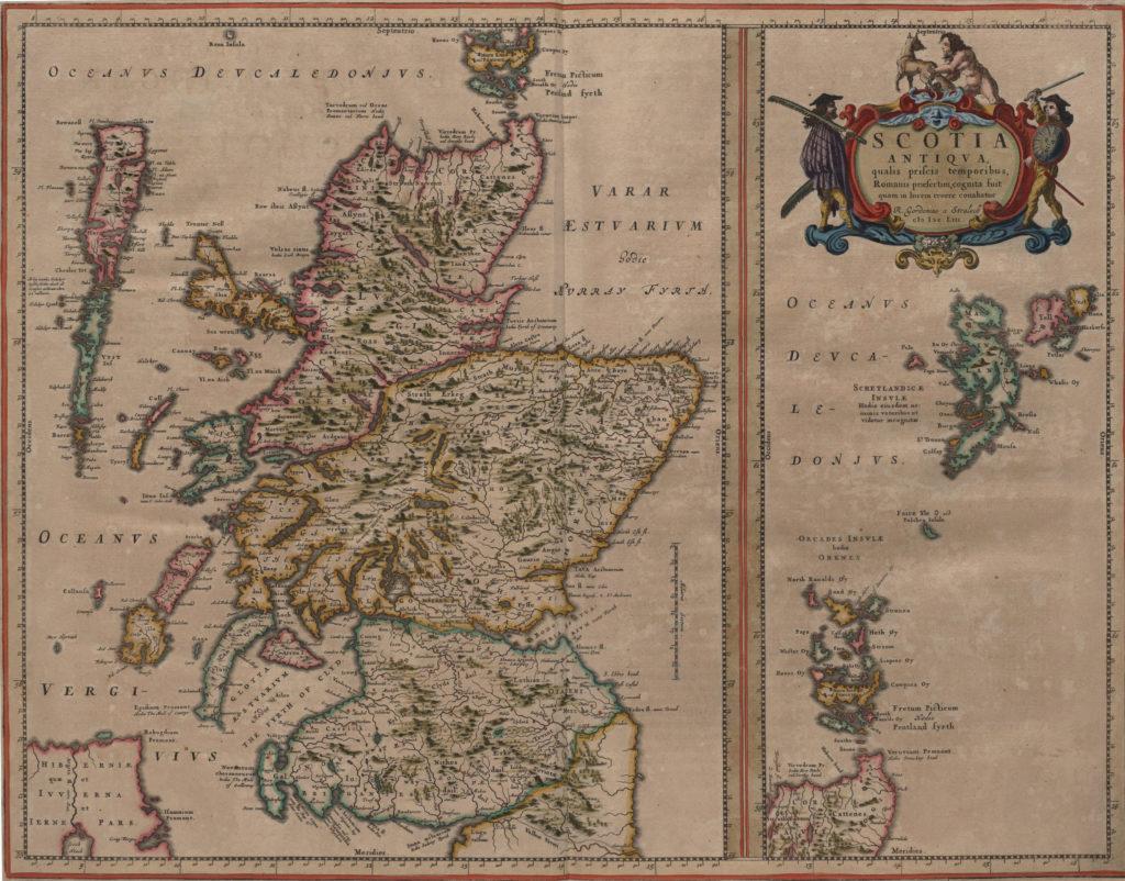 Карта Шотландии, 1655 г.