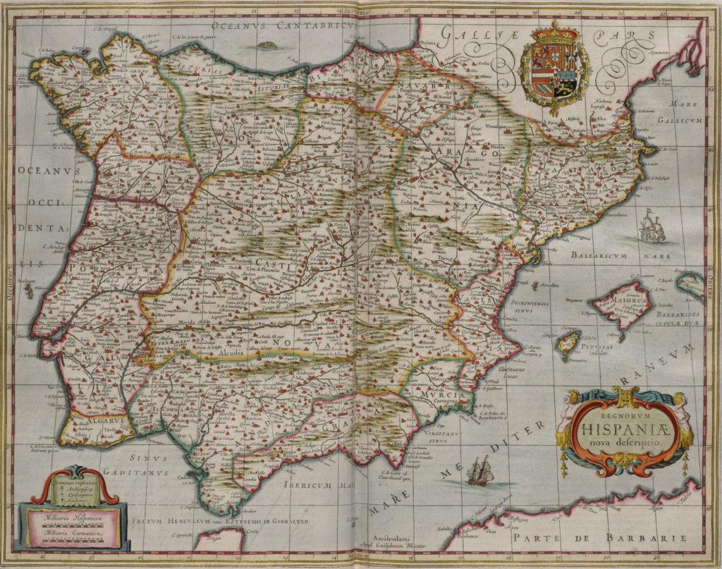 Карта Испании, 1658 г.