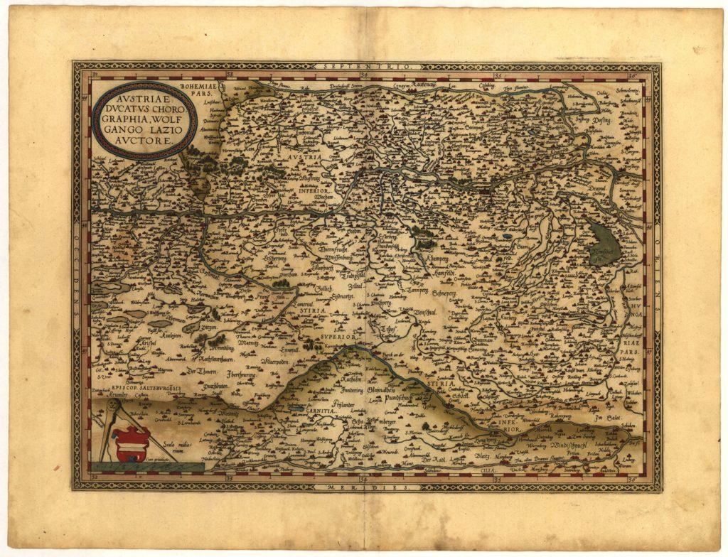 Карта Австрии, 1570 г.