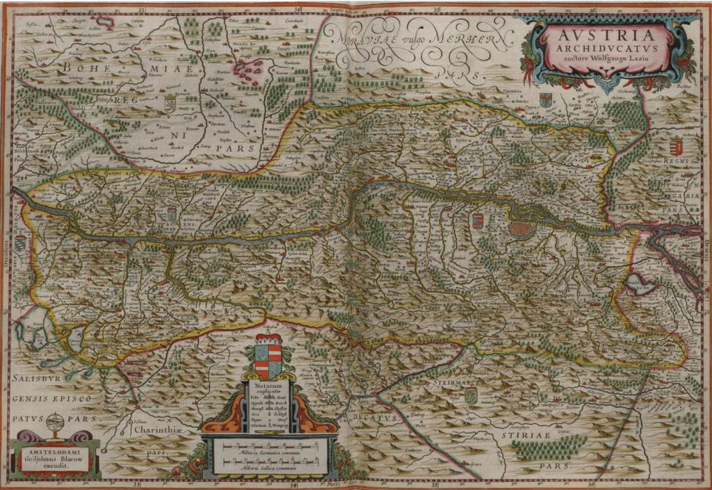 Карта Австрии, 1657 г.