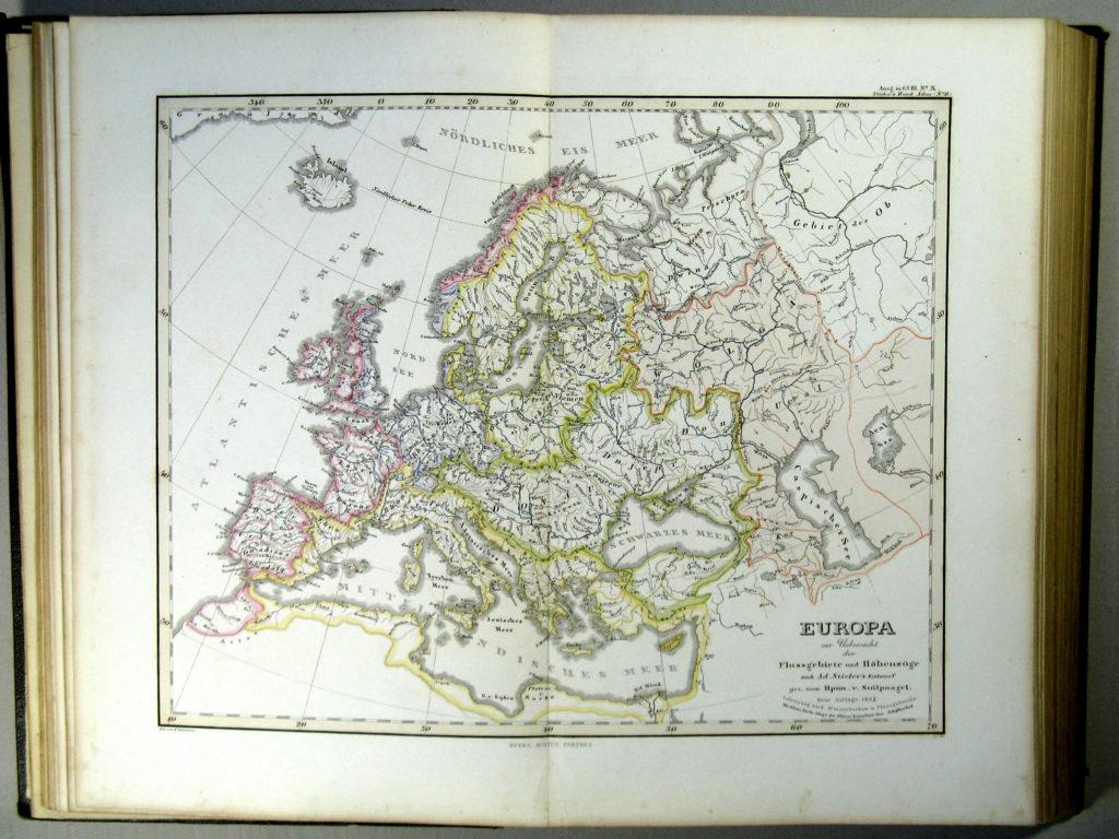 Карты водосборных бассейнов Европы, 1863 г.