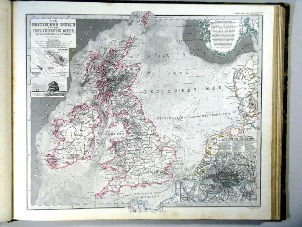 Карта Британии, 1862 г.