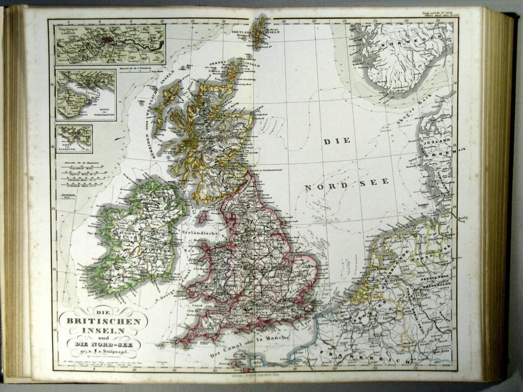 Административная карта Британии, 1863 г.