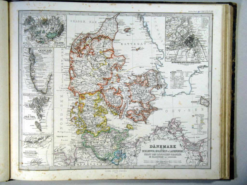 Карта Дании, 1864 г.
