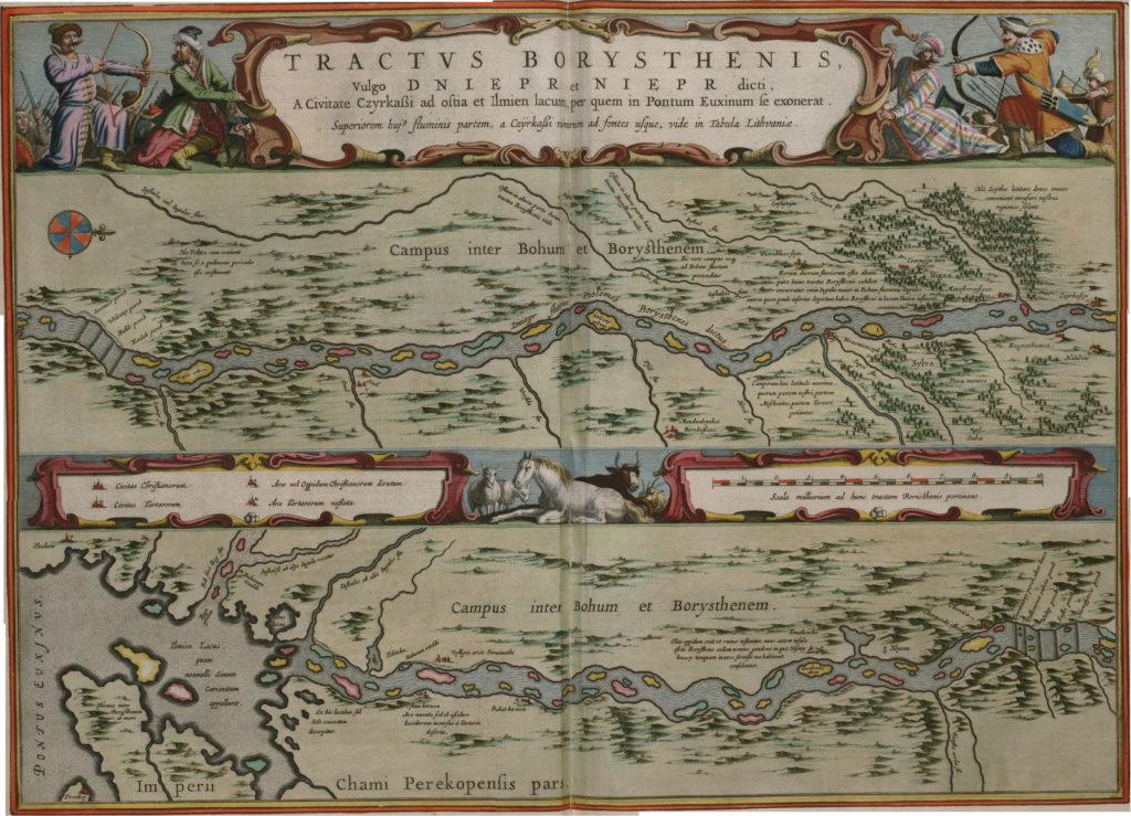 Карта реки Днепр, 1657 г.