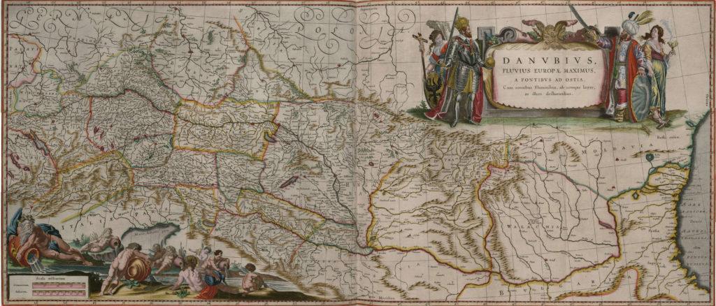 Карта Дуная, 1657 г.