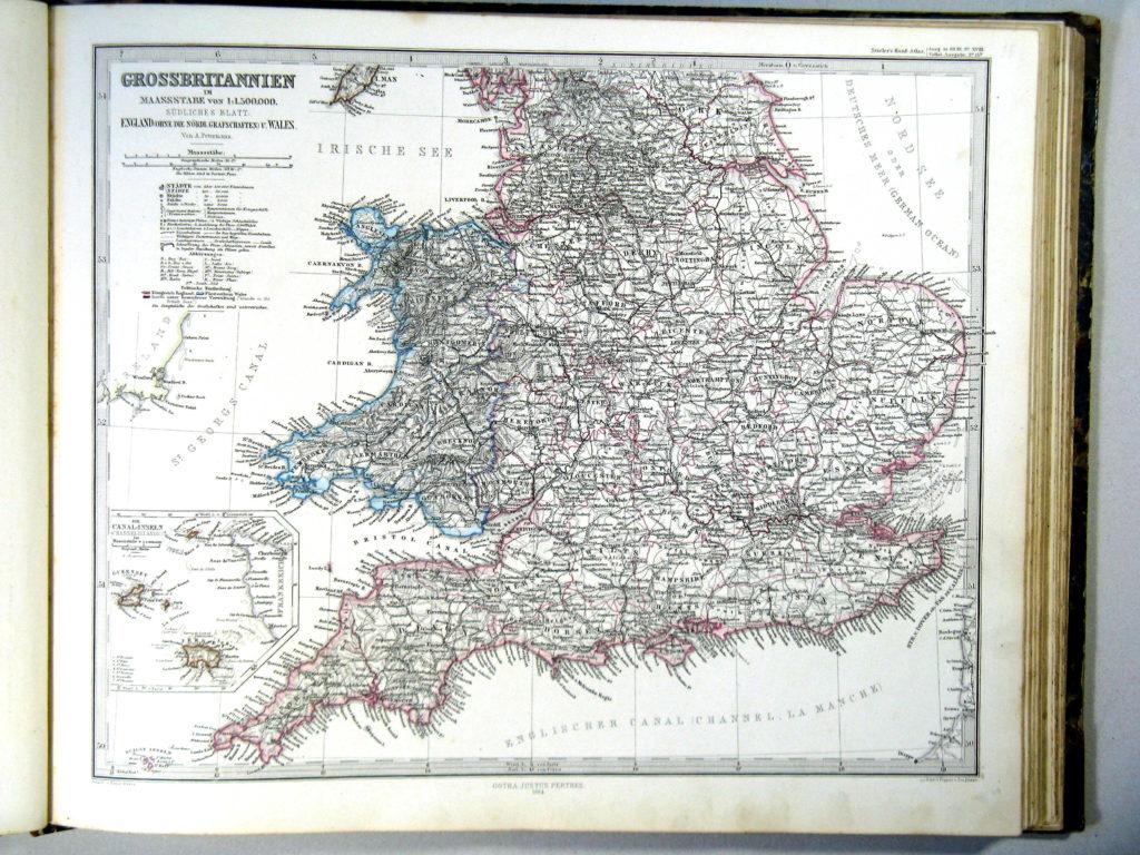 Карта Англии и Уэльса, 1864 г.