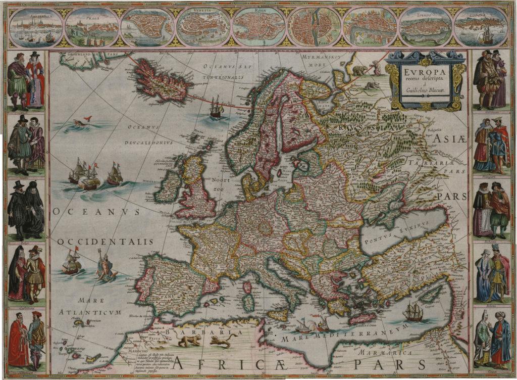 Карта Европы, 1657 г.