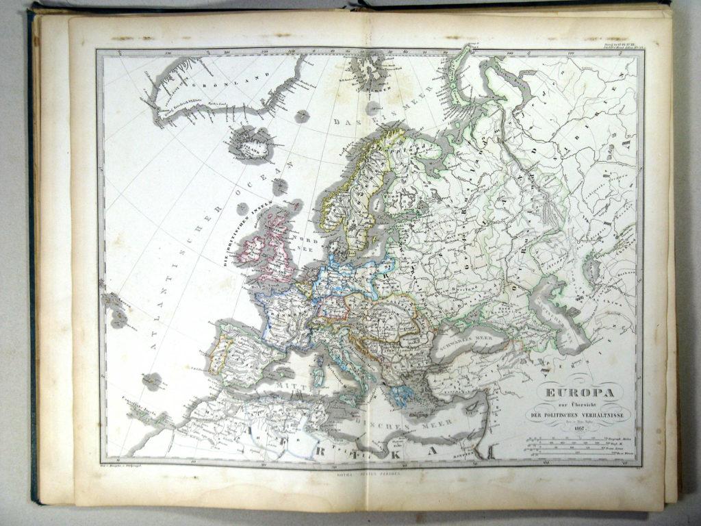Политическая карта Европы, 1867 г.