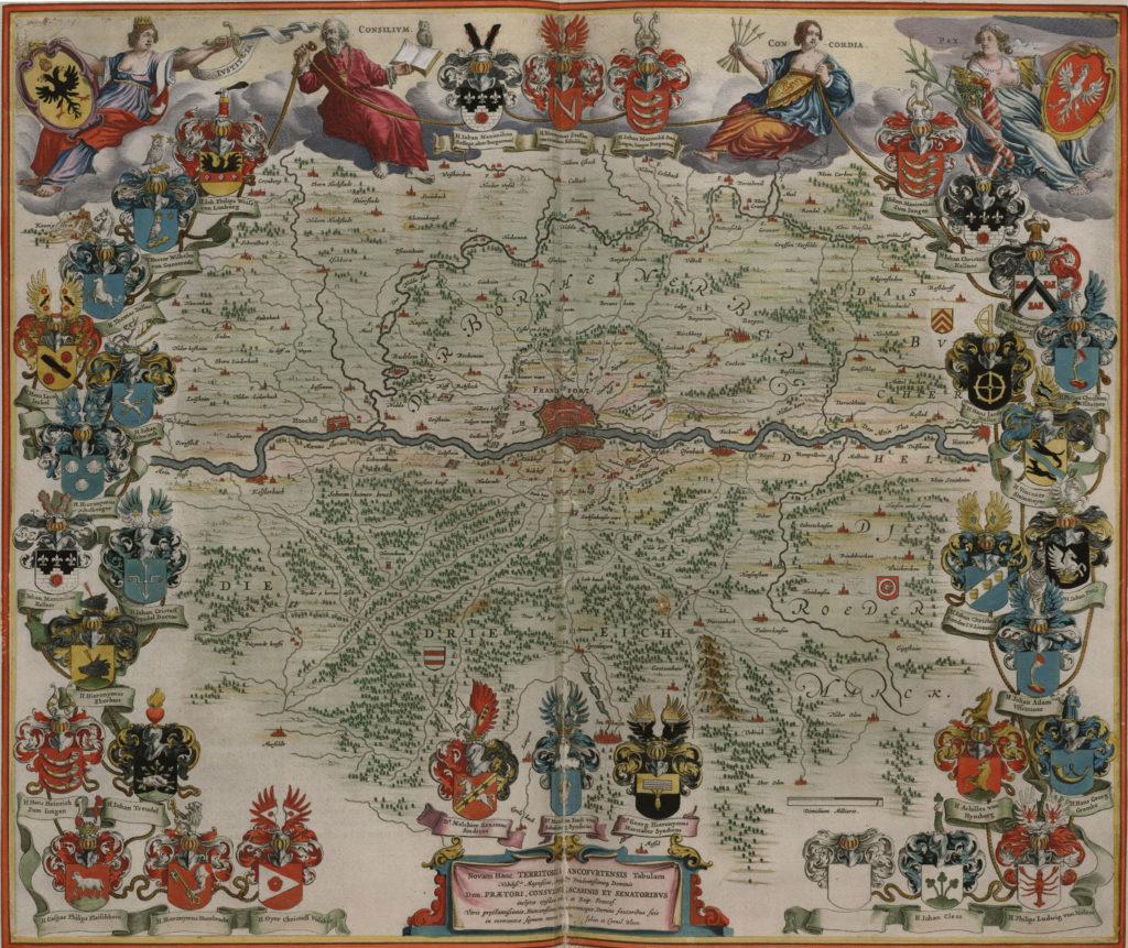 Карта Франкфурта, 1657 г.