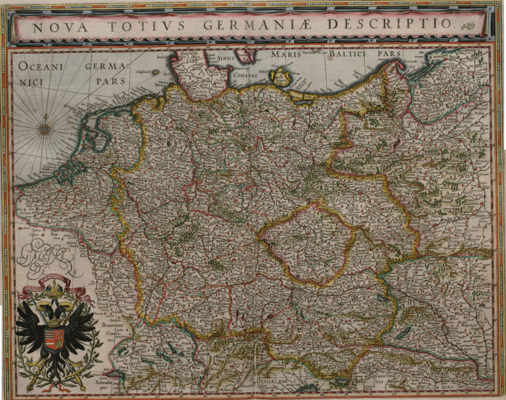 Карта Германии, 1657 г.