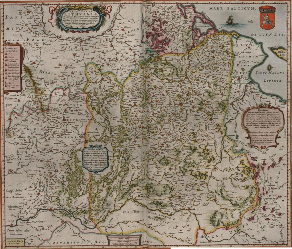 Карта Литвы, 1657 г.
