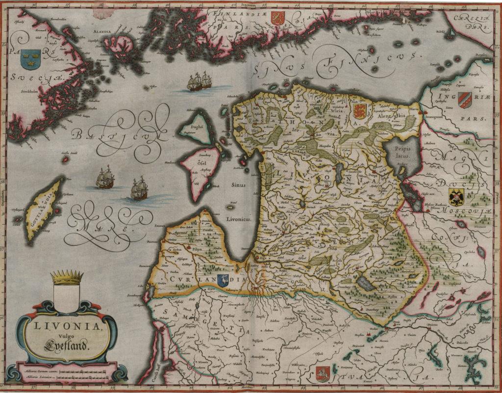 Карта Ливонии, 1657 г.