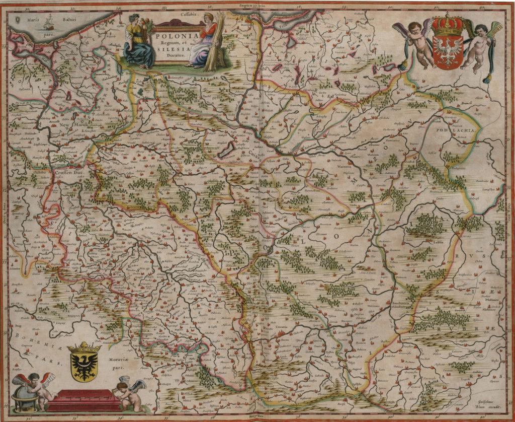 Карта Польши, 1657 г.
