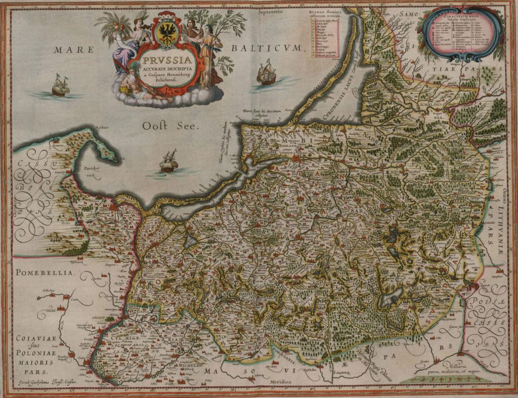Карта Пруссии, 1657 г.
