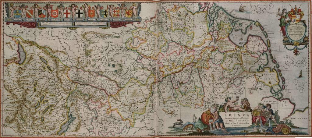 Карта Рейна, 1657 г.