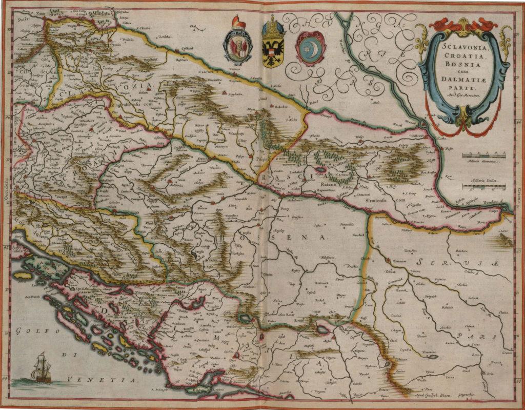 Карты Боснии, Сербии, Черногории, Герцеговины, Румынии 1657 г.