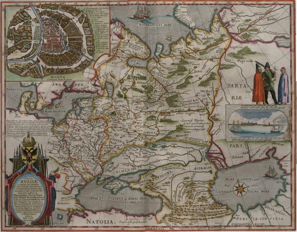 Карта России, 1657 г.