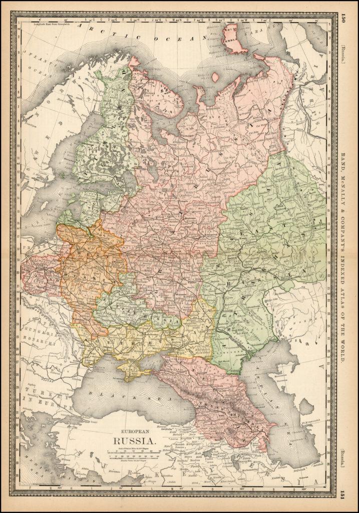 Карта России, 1879 г.