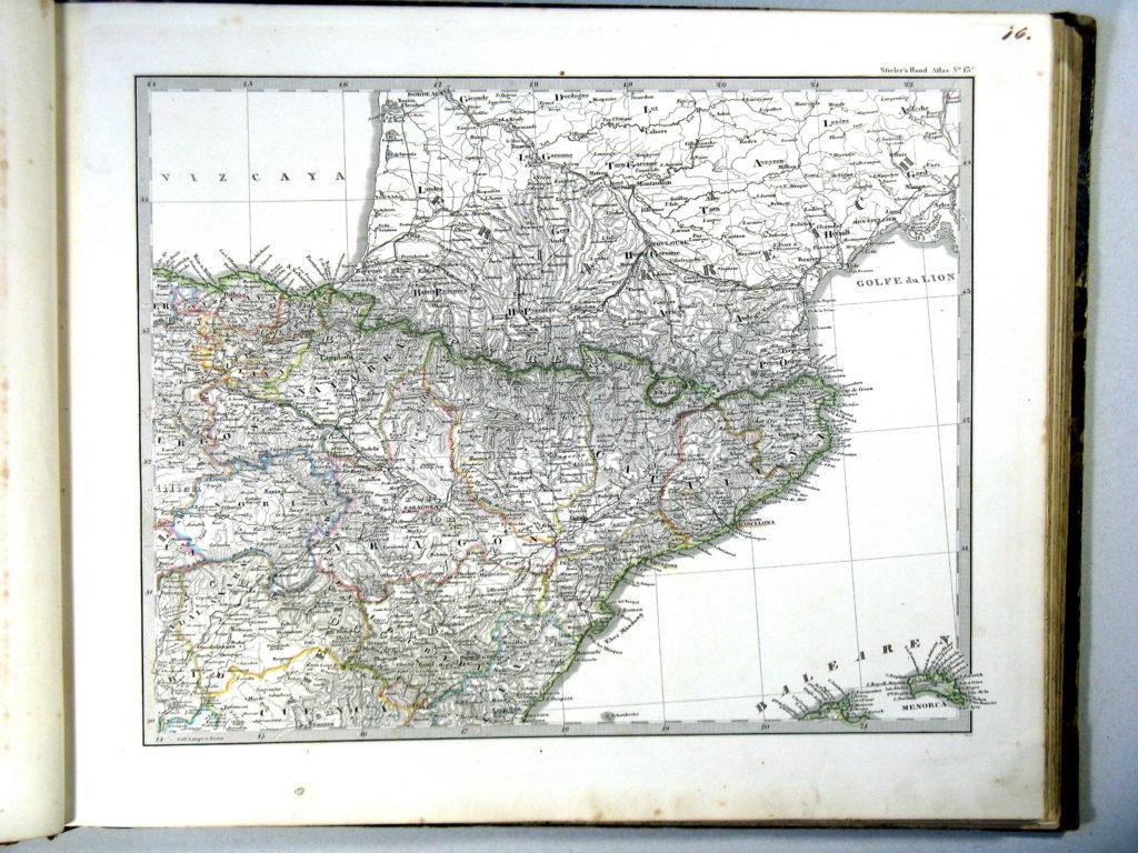 Карта Пиренейского полуострова, северо-восток, 1864 г.
