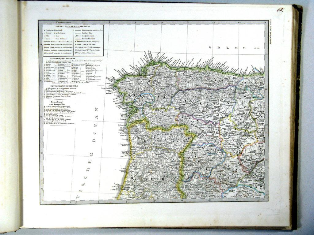 Карта Пиренейского полуострова, северо-запад, 1864 г.