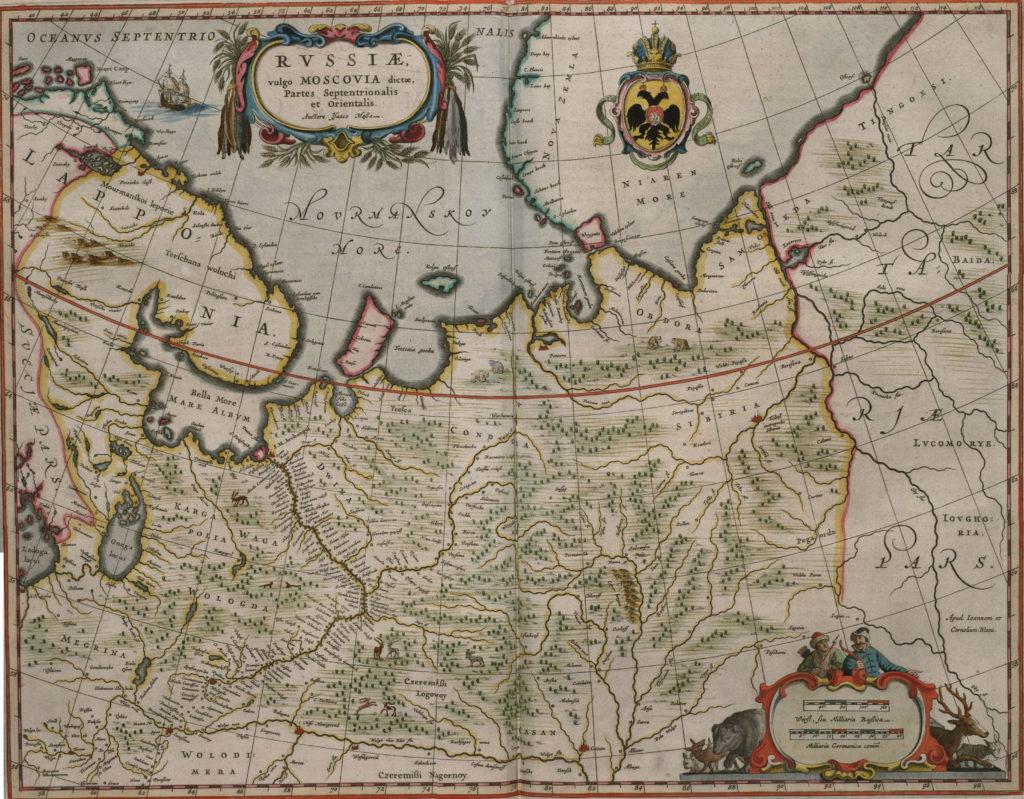 Карта северной части России, 1657 г.