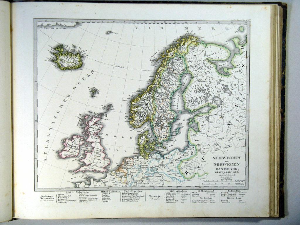 Карта Северной Европы, 1864 г.
