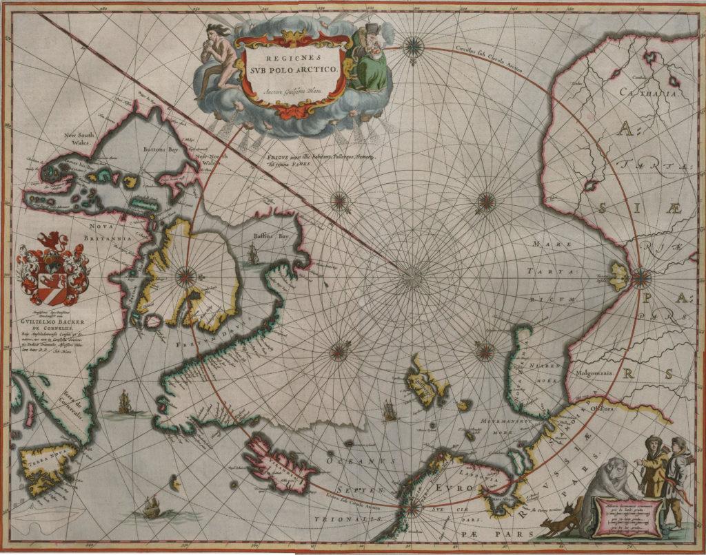 Карта Северного полюса, 1657 г.