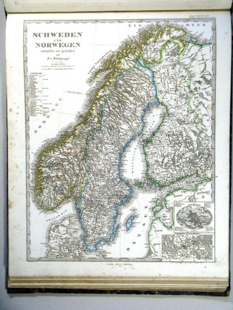Карта Норвегии и Дании, 1864 г.
