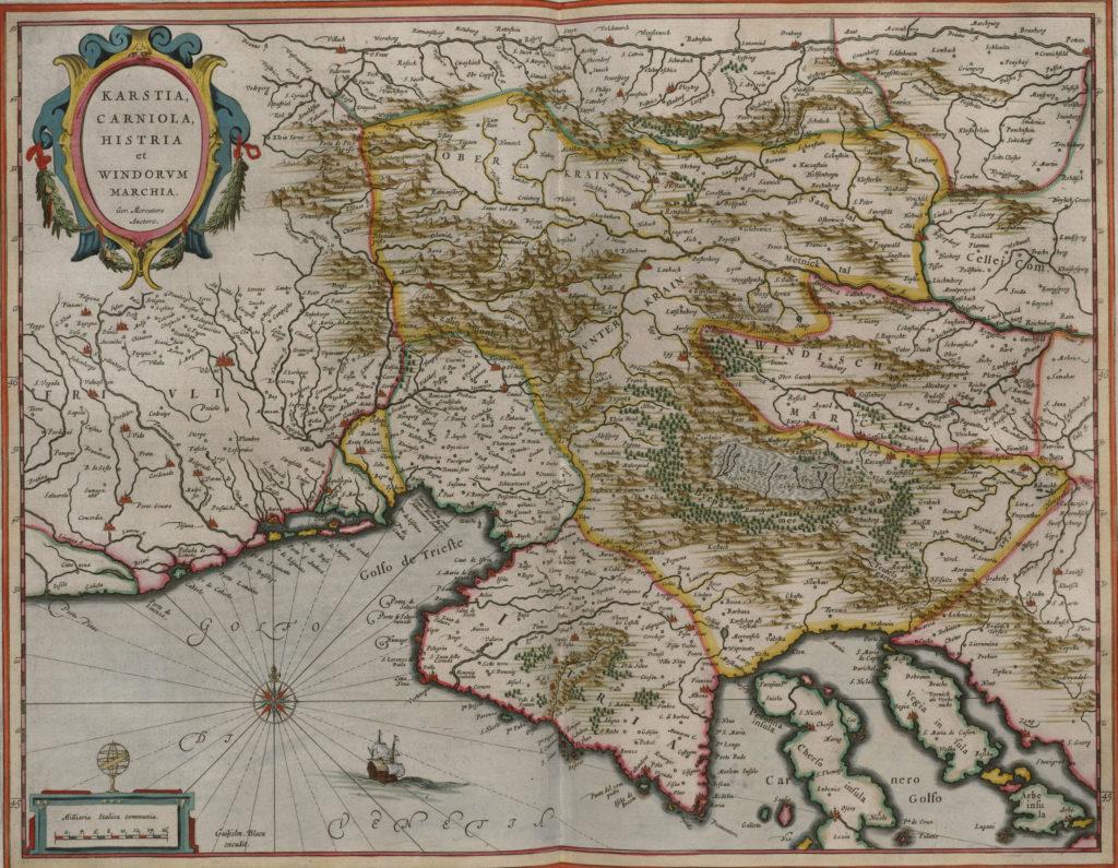 Карта Словении, 1657 г.
