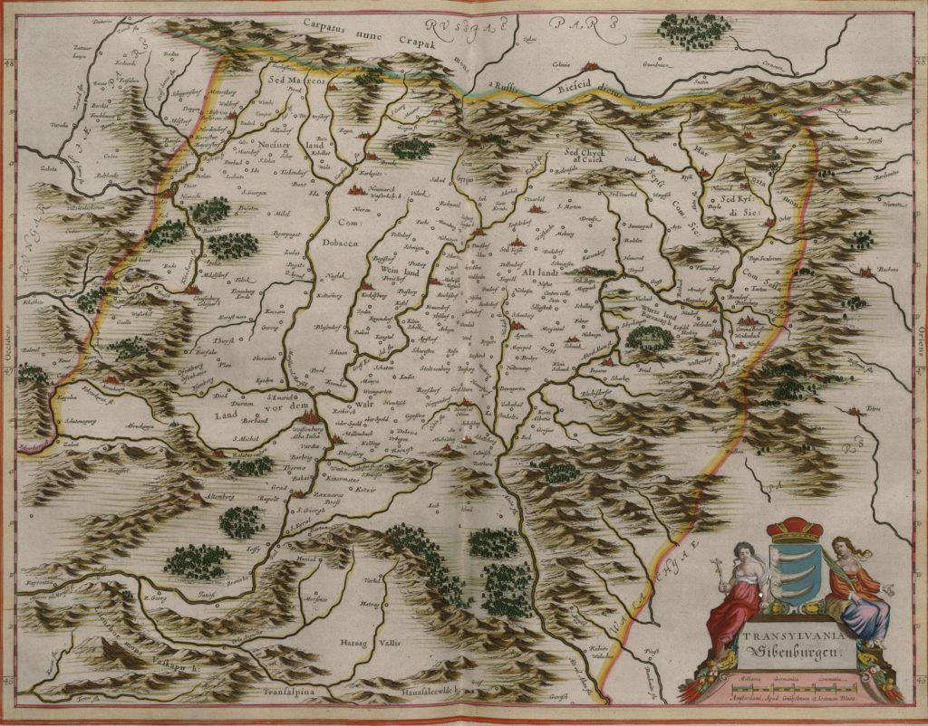 Карта Трансильвании, 1657 г.