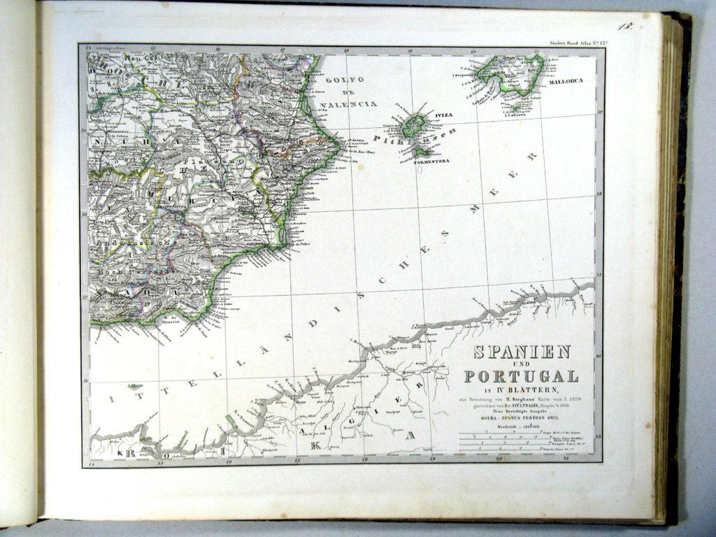 Карта Пиренейского полуострова, юго-восток, 1864 г.