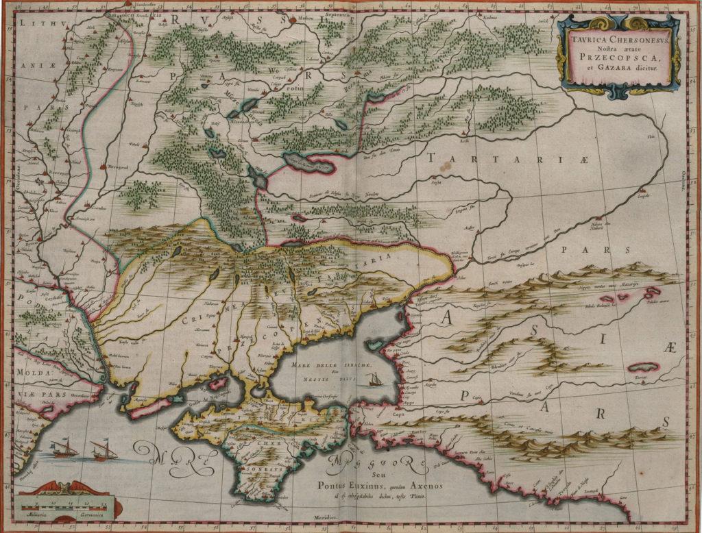 Карта Крыма, 1657 г.