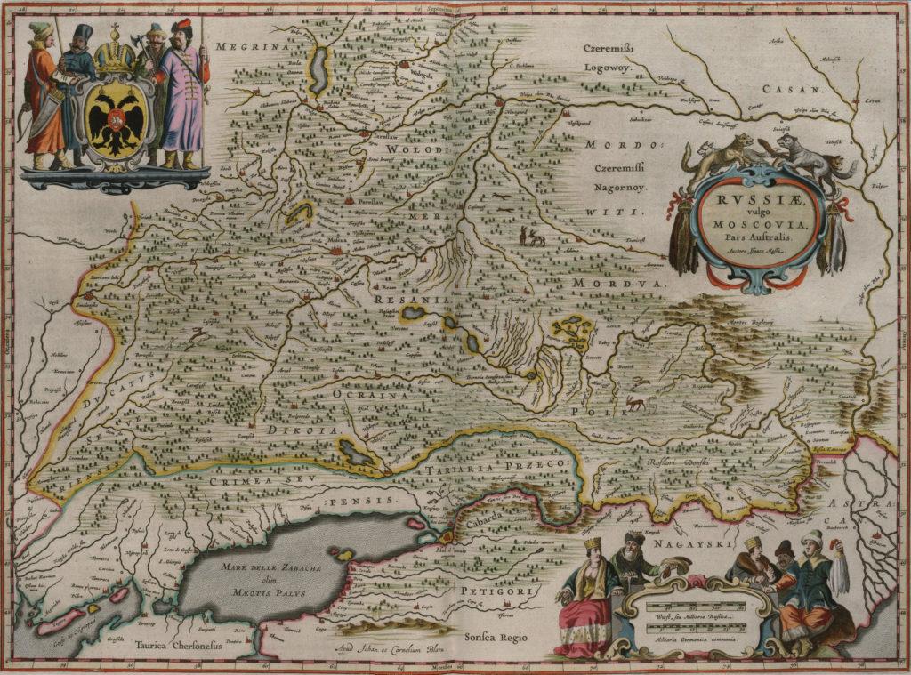 Карта юга России, 1657 г.