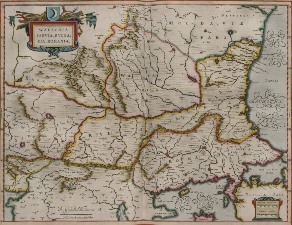 Карта Валахии, 1657 г.