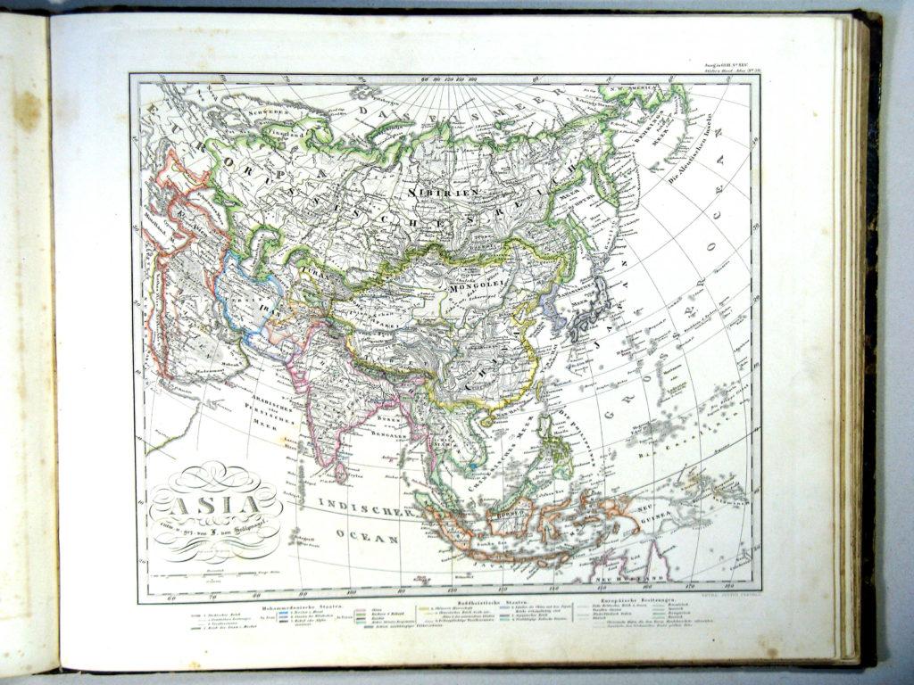 Карта Азии, 1864 г.