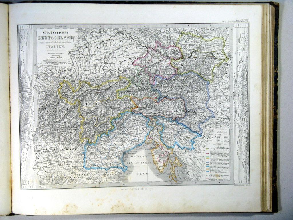 Карта Австрии, 1864 г.