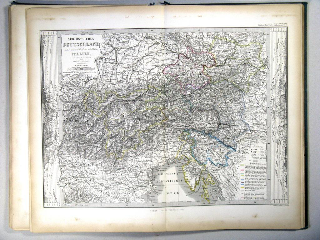 Карта Австрии, 1867 г.