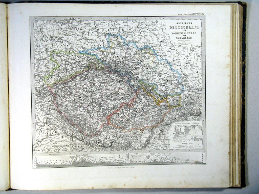 Карта Чехии, 1864 г.