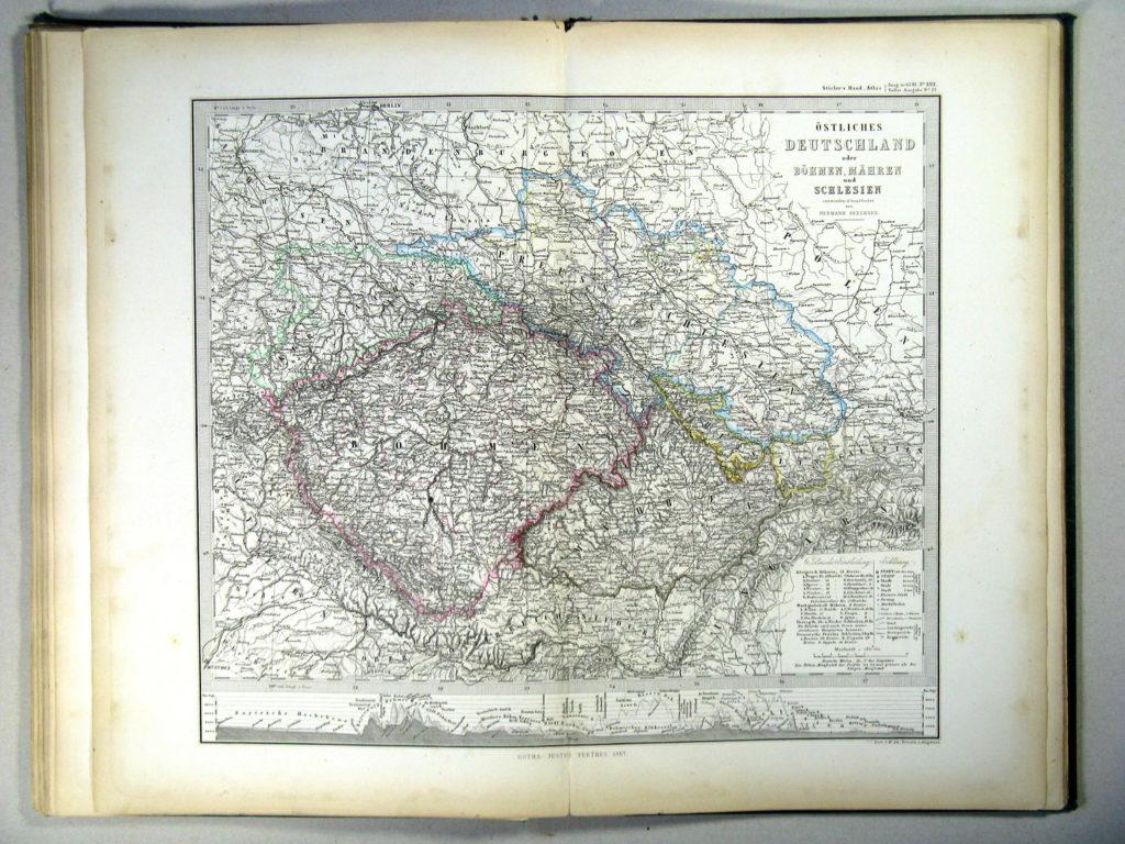 Карта Чехии, 1867 г.